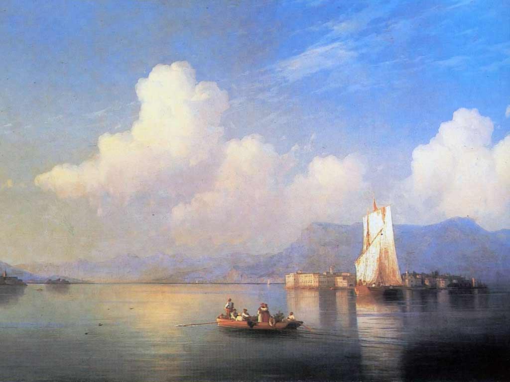 Обои Клод Моне, Два Рыбака, картина, лодка, Пейзаж. Разное foto 17